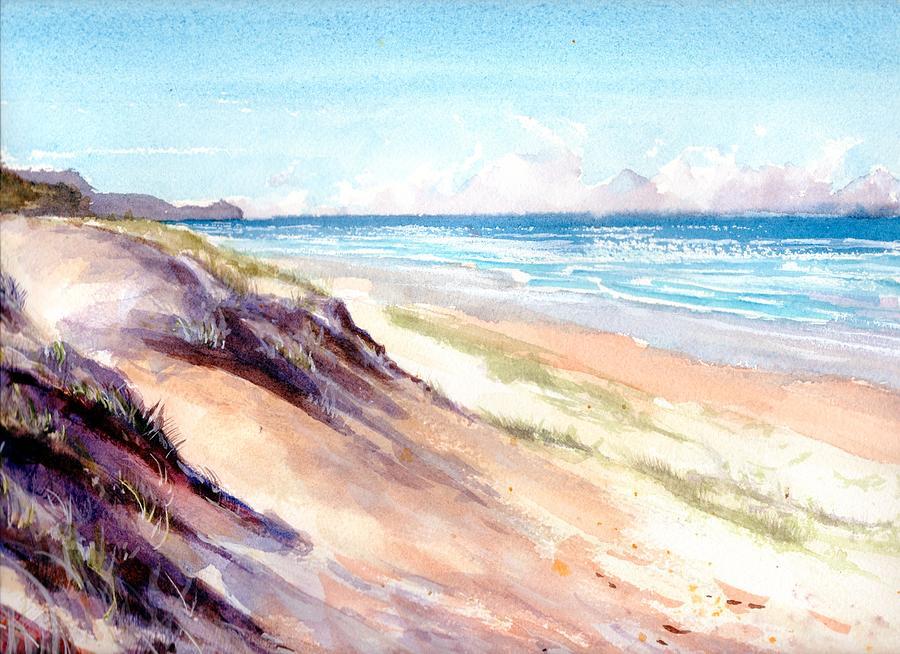 Sunrise Beach, Noosa Queensland painting by Chris Hobel
