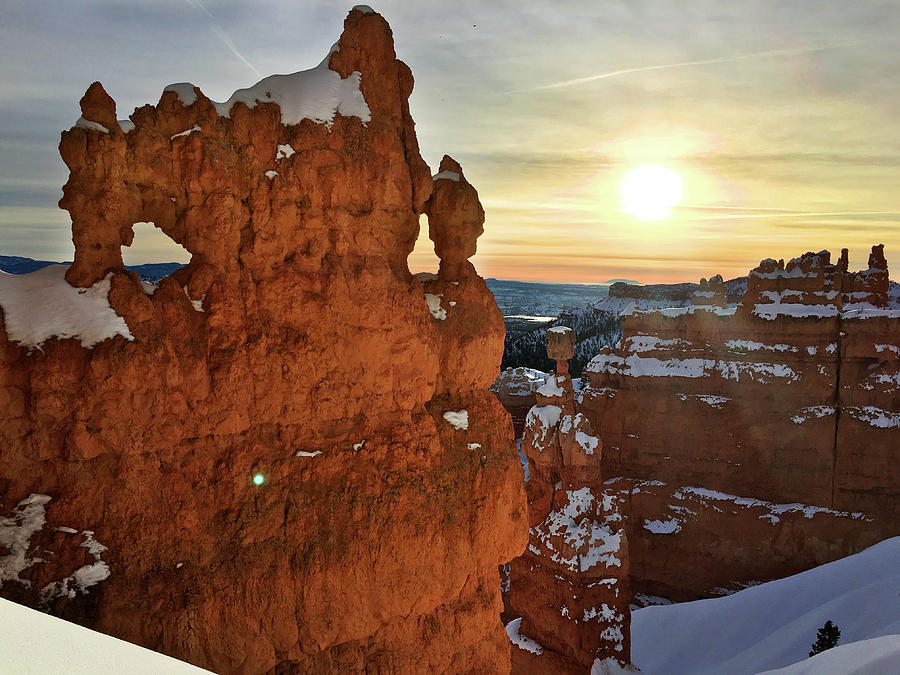 Sunrise Bryce Canyon Winter by Ron Brown Photography