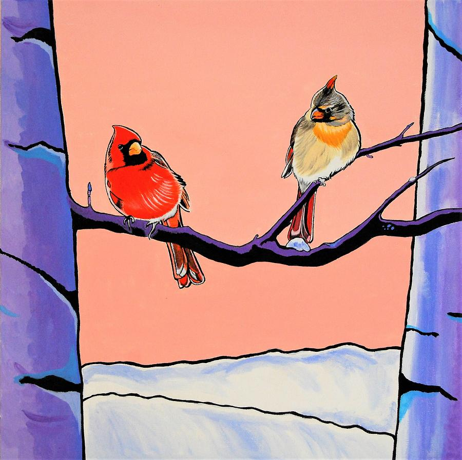 Sunrise Cardinals by Sonja Jones