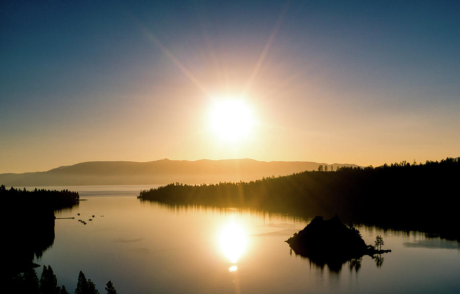 Sunrise Emerald Bay Lake Tahoe California  by Ants Drone Photography