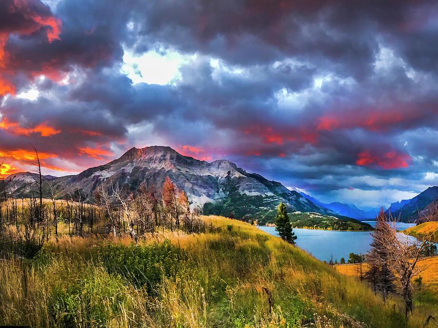 sunrise fire 002 by David Brookwell