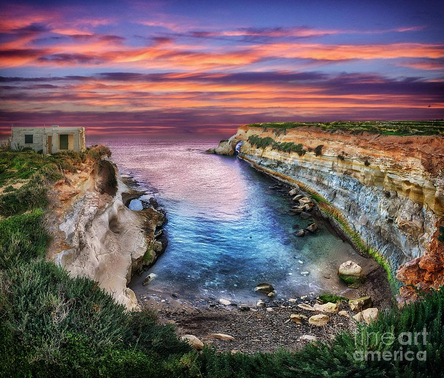Sunrise from limits of Munxar, in Malta by Stephan Grixti