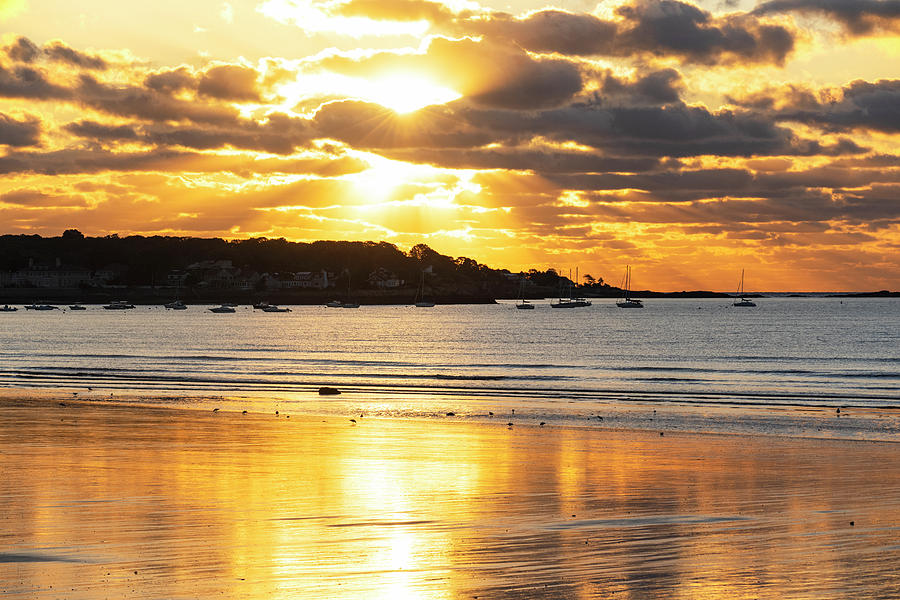 Sunrise from Lynn Shore Drive Lynn MA North Shore by Toby McGuire