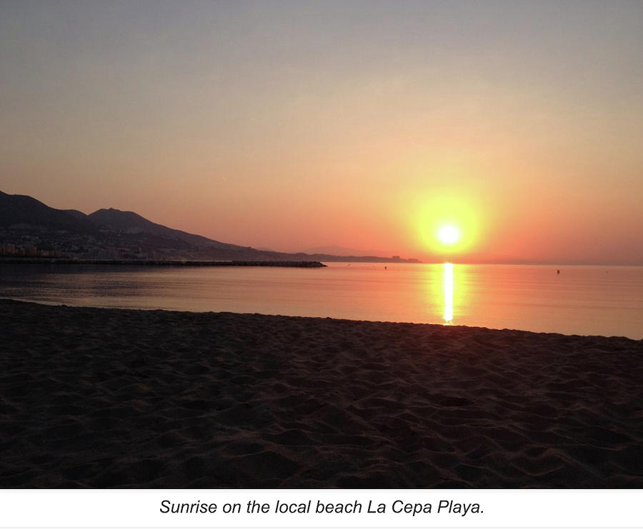 Sunrise, Fuengirola by Roger Cummiskey
