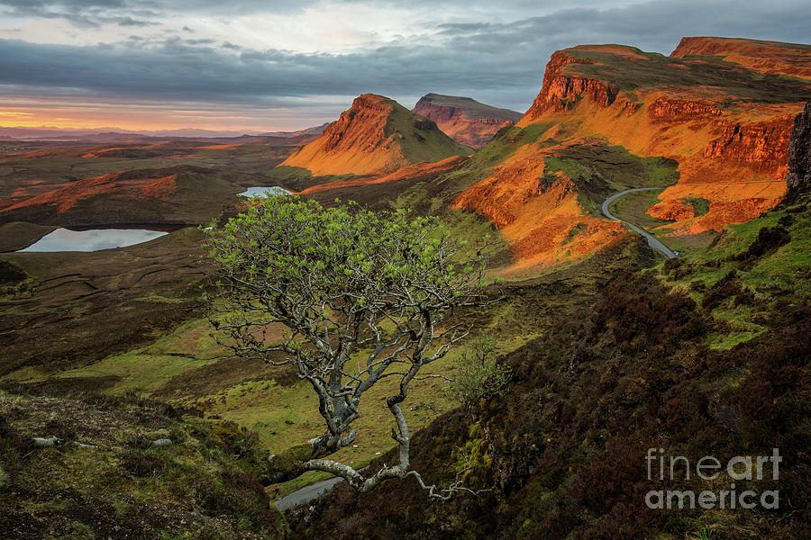 Quiraing Photograph - Sunrise in a Quiraing mountain landscape by IPics Photography