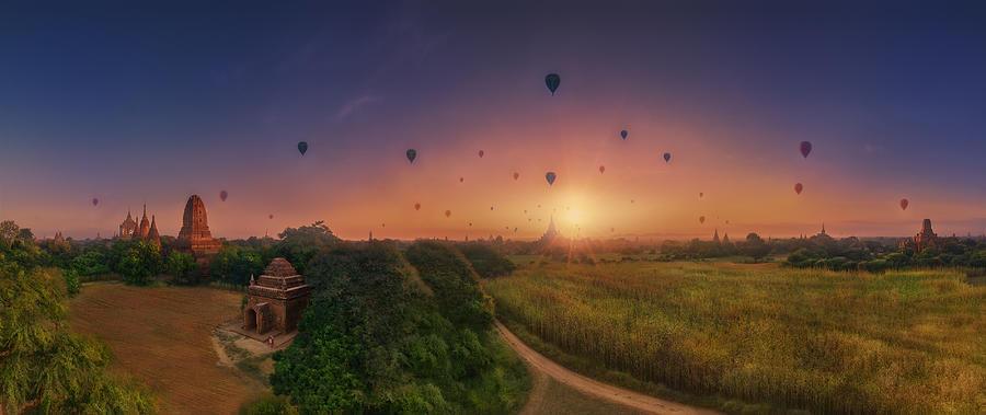 Bagan Photograph - Sunrise In Bagan by Felipe Souto