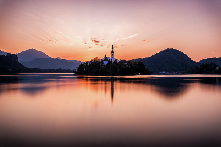 Europe Photograph - Sunrise On Lake Bled by Andrei Dima