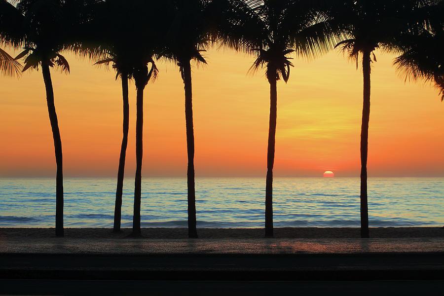 Sunrise In Copacabana Beach Photograph by Luoman