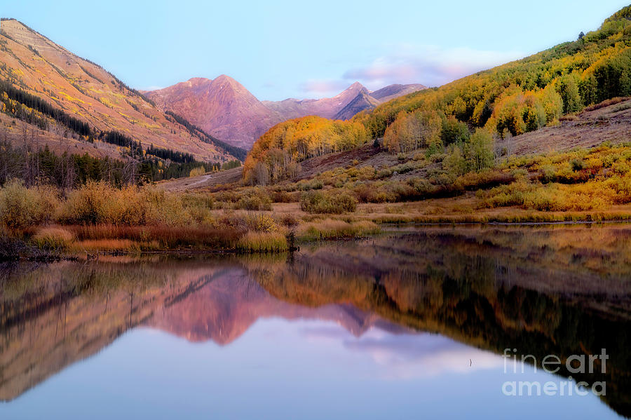 Sunrise in Crested Butte Colorado in the Fall Season by Ronda Kimbrow