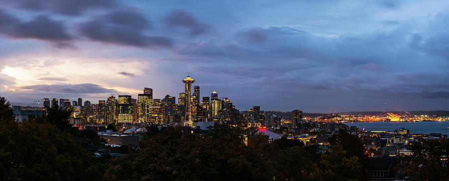 Sunrise in downtown Seattle by Michael Lee