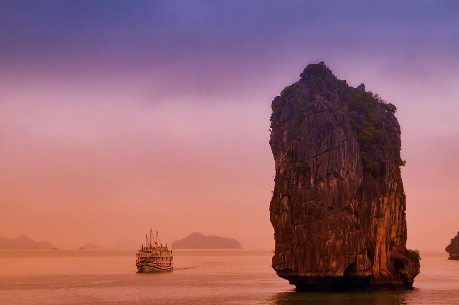 Sunrise in HaLong Bay by Marzena Grabczynska Lorenc