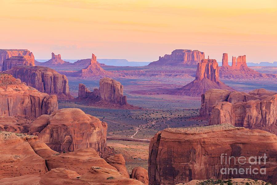 Southwest Photograph - Sunrise In Hunts Mesa, Monument Valley by Elena suvorova