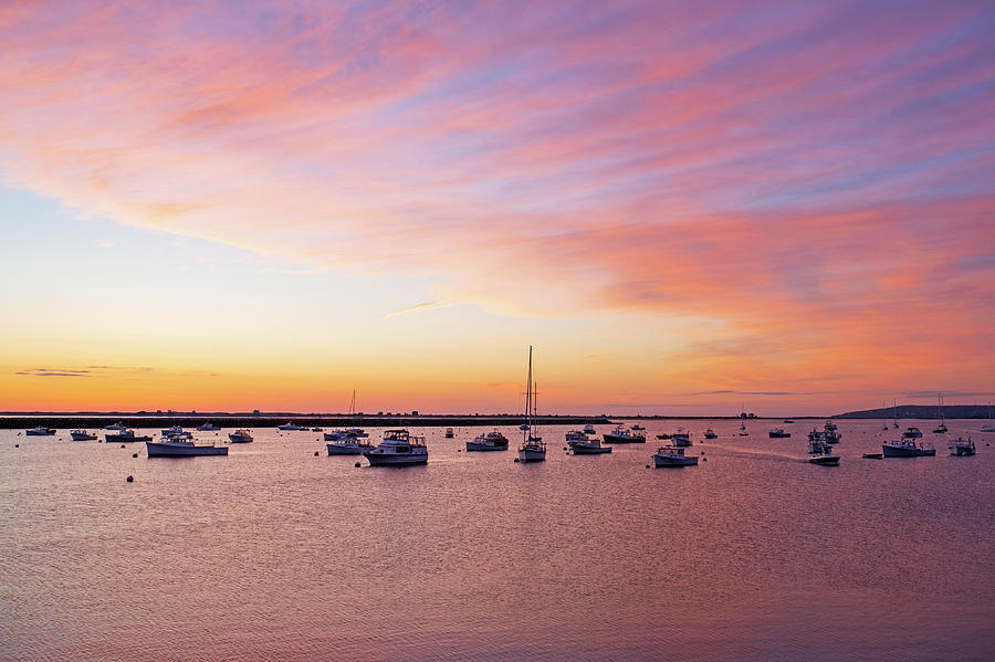 Sunrise in Plymouth MA Harbor by Toby McGuire