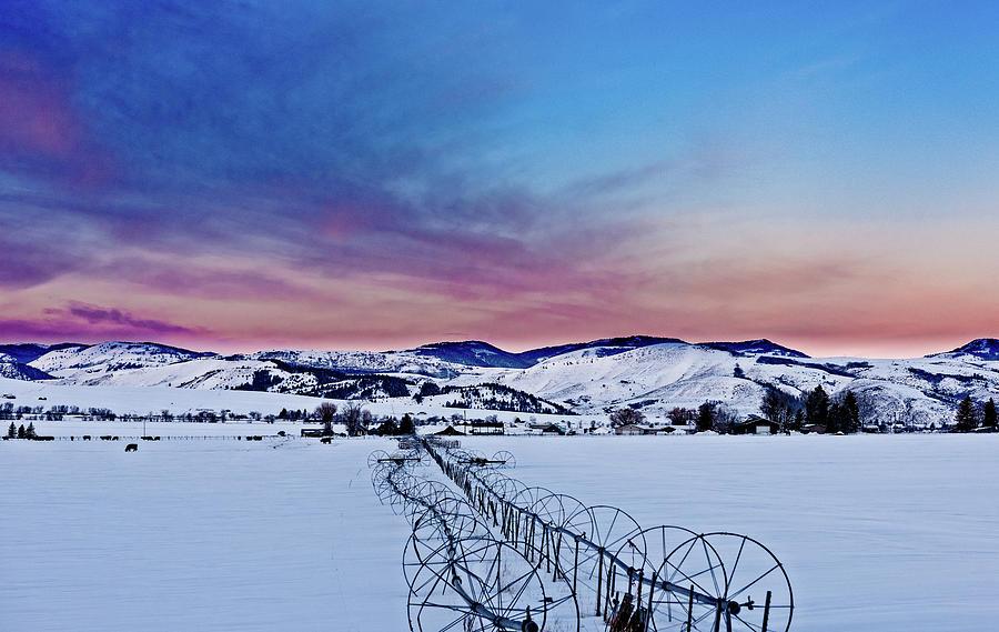 Star Valley Photograph - Sunrise In Smoot, Wy by Barbara Hayton