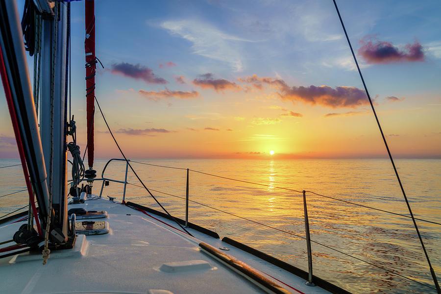 Sunrise In The Mediterranean Sea Photograph