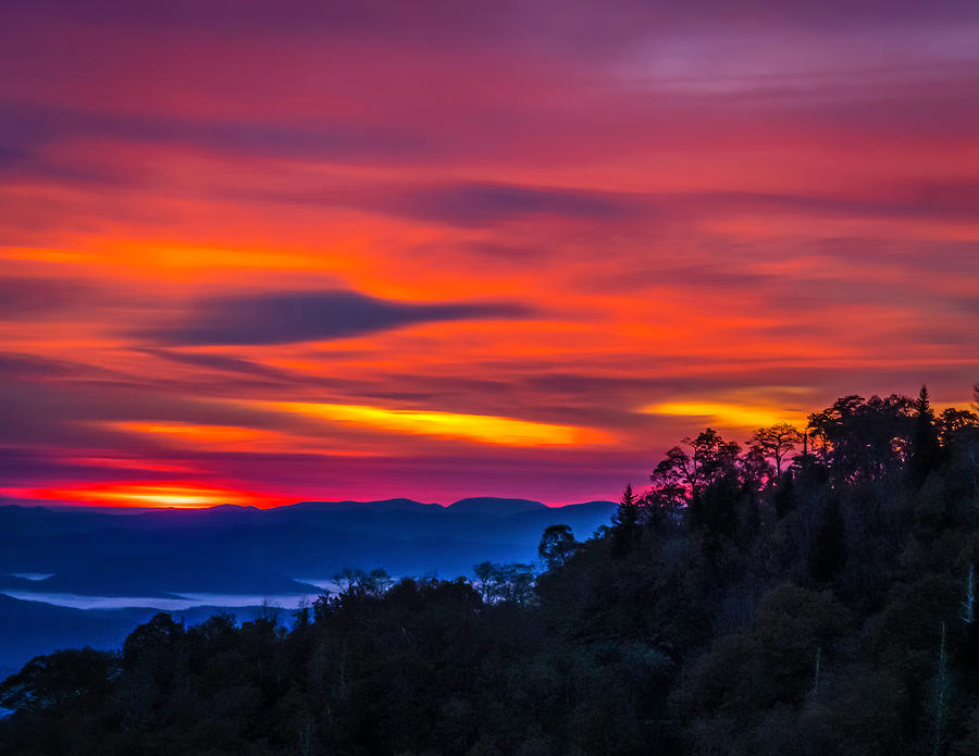 Sunrise in the Smokies by Peggy Blackwell