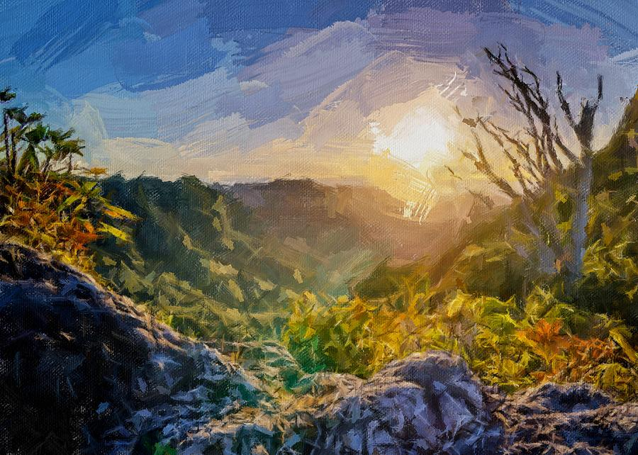Sunrise in the Valley by Painterly Images