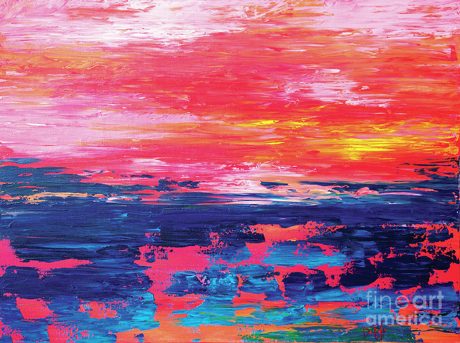 Abstract Painting - Sunrise  by JoAnn DePolo