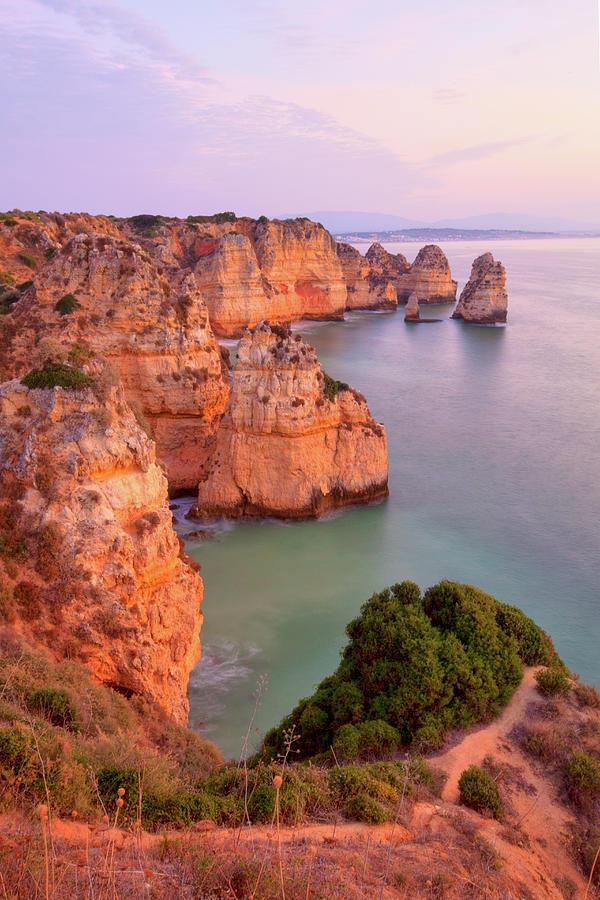 Sunrise Lagos Portugal Coast Photograph by M Swiet Productions