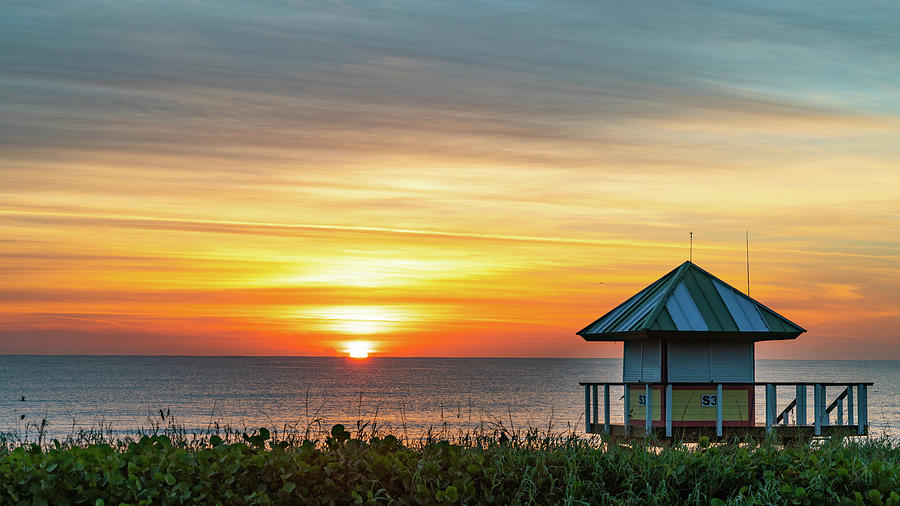 Sunrise Lifeguard Station 2 Delray Beach Florida by Lawrence S Richardson Jr