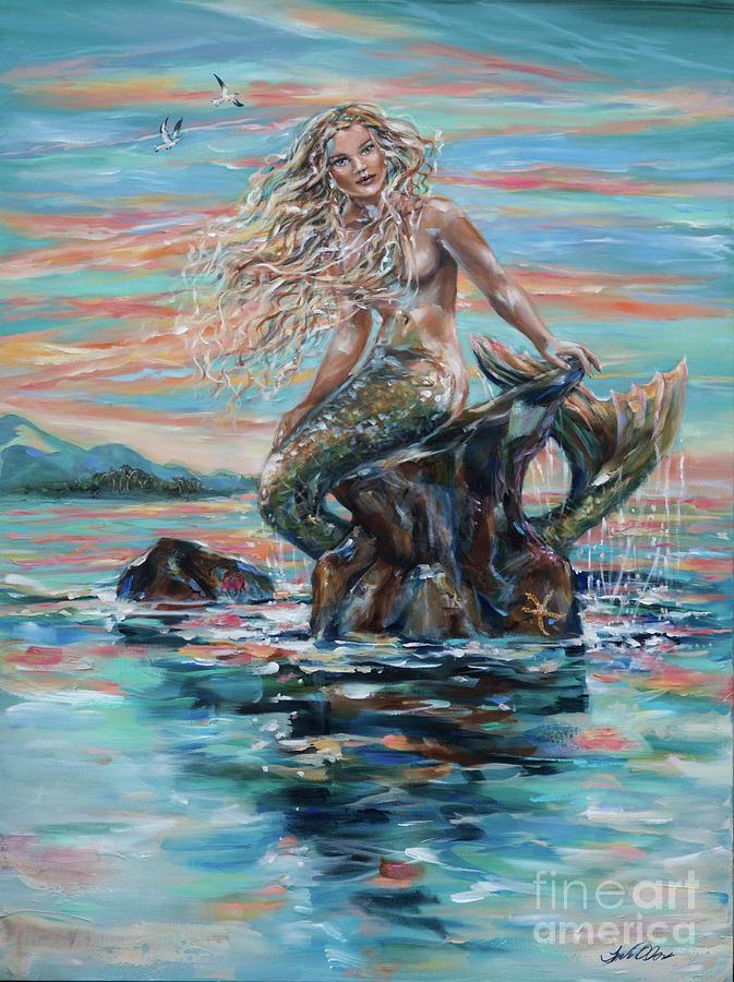 Sunrise Mermaid by Linda Olsen
