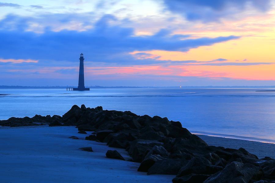Sunrise Morris Lighthouse Charleston South Carolina  by Carol Montoya