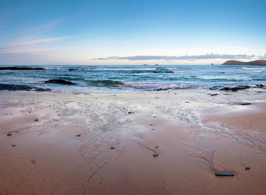 Sunrise On A Remote Cornish Beach Photograph by Racheldewis