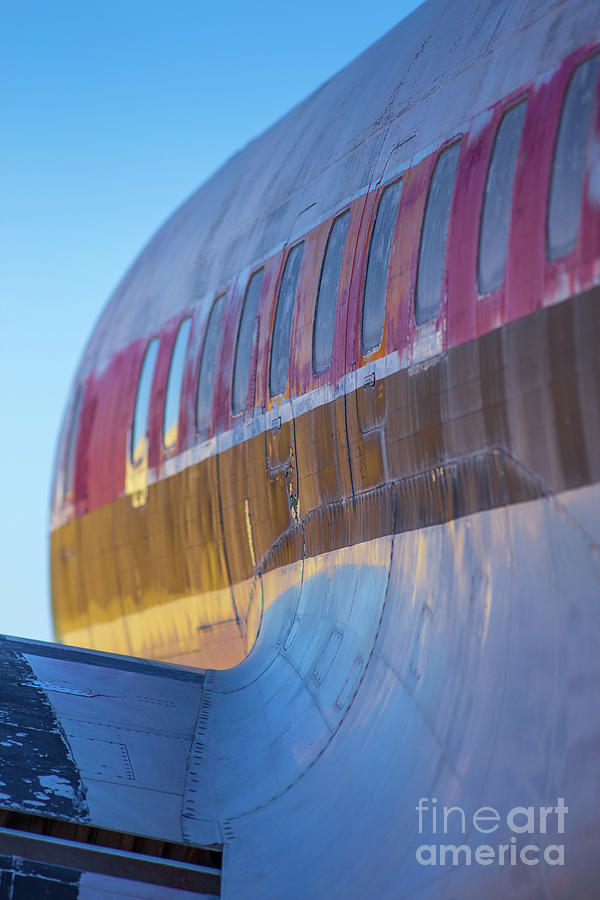 Pima Photograph - Sunrise On An Old Airplane by Edward Fielding