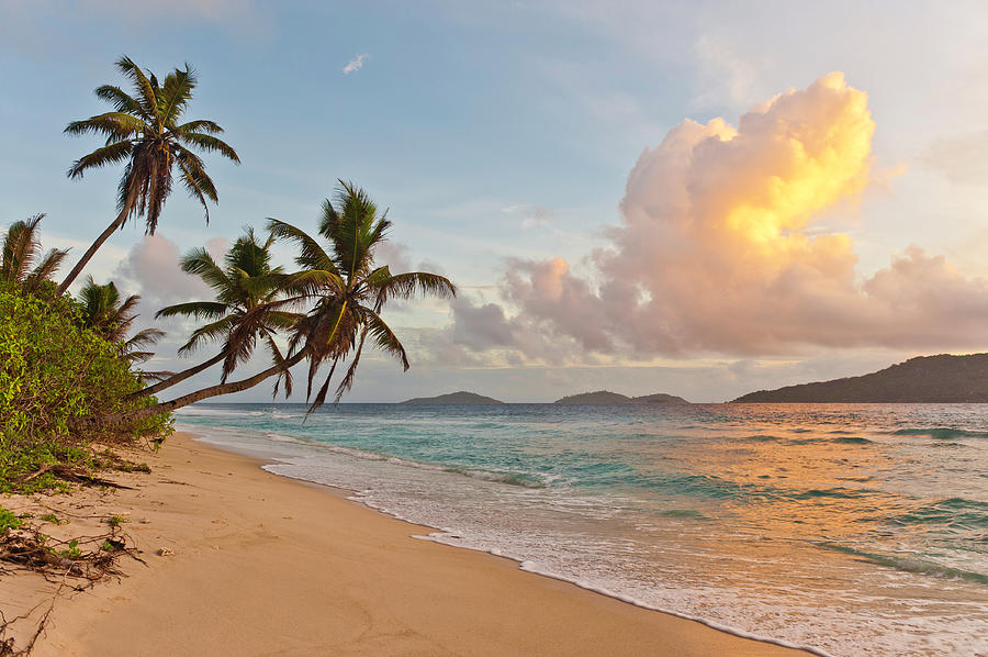 Sunrise On Deserted Tropical Island Photograph by Fotovoyager