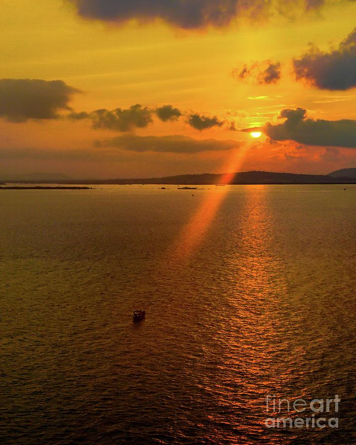 Sunrise on Ganh Rai Bay by David Meznarich