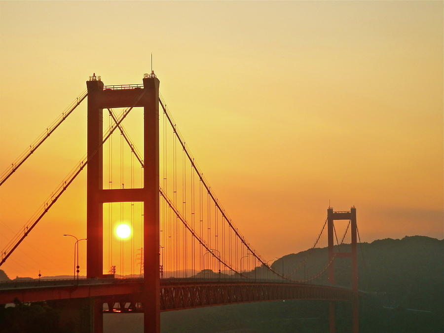 Sunrise On Hirado Bridge Photograph by Kurosaki San