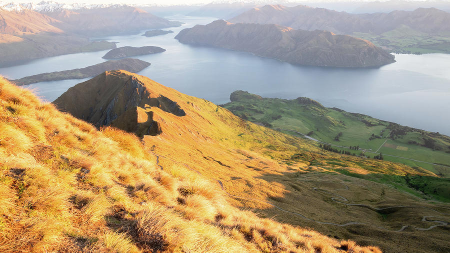 Warm Sunrise On Roys Peak In Wanaka New Zealand by Peter Kolejak