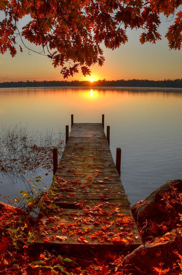 Sunrise On Pelican Lake Photograph by Sherry Slabik