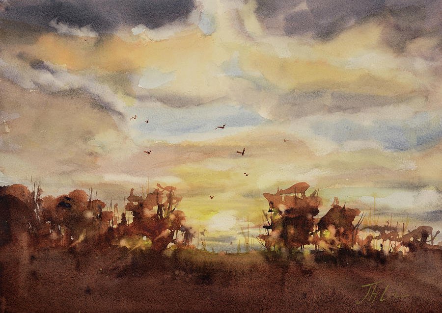 Sunrise on the Lane ll by Judith Levins
