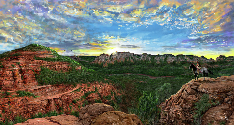 Sunrise on the Mesa by Don Olea
