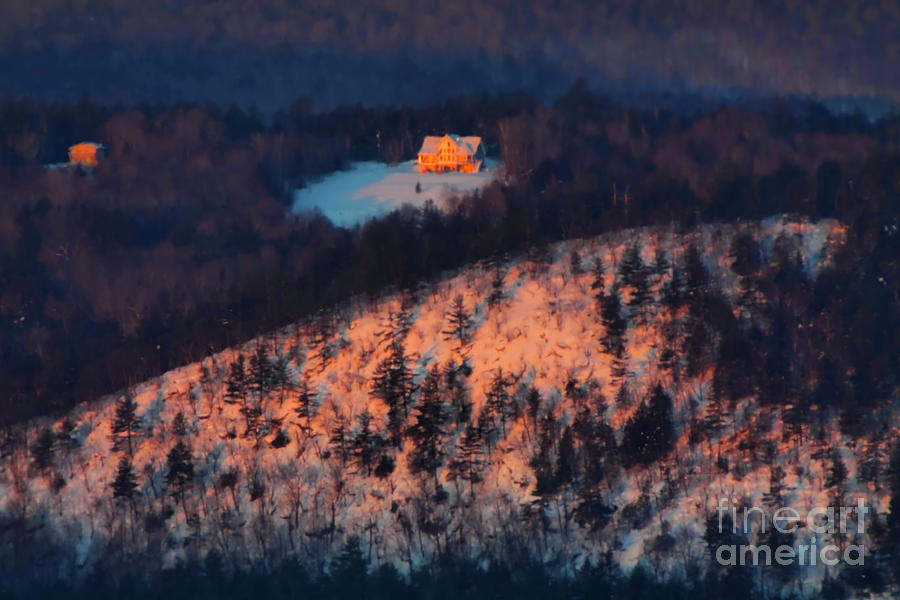 Mountains Photograph - Sunrise on the Mountain by Christine Segalas