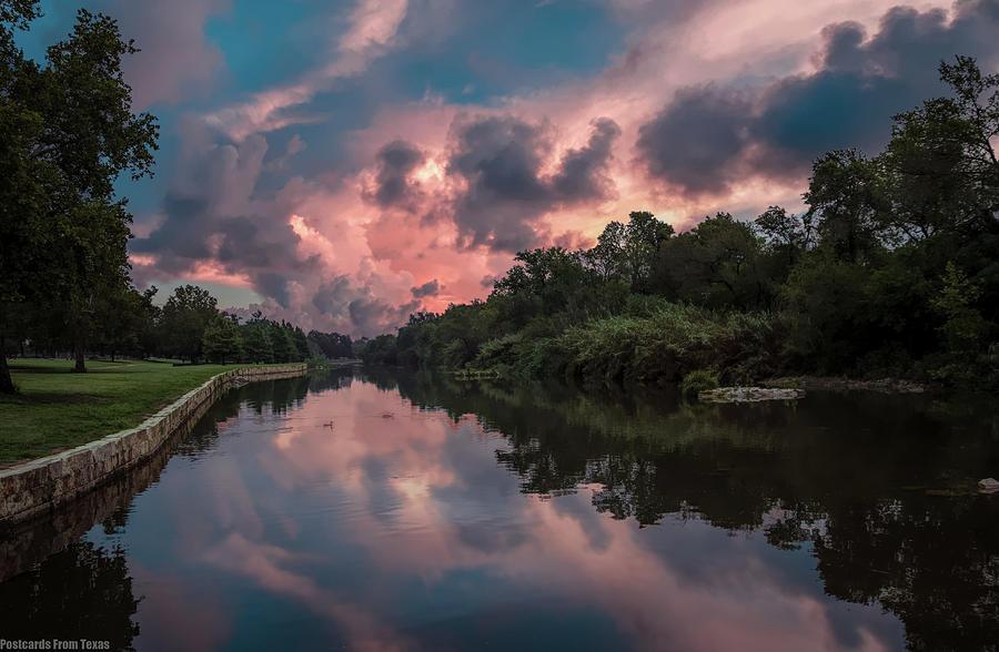 Sunrise on the River by Gaylon Yancy
