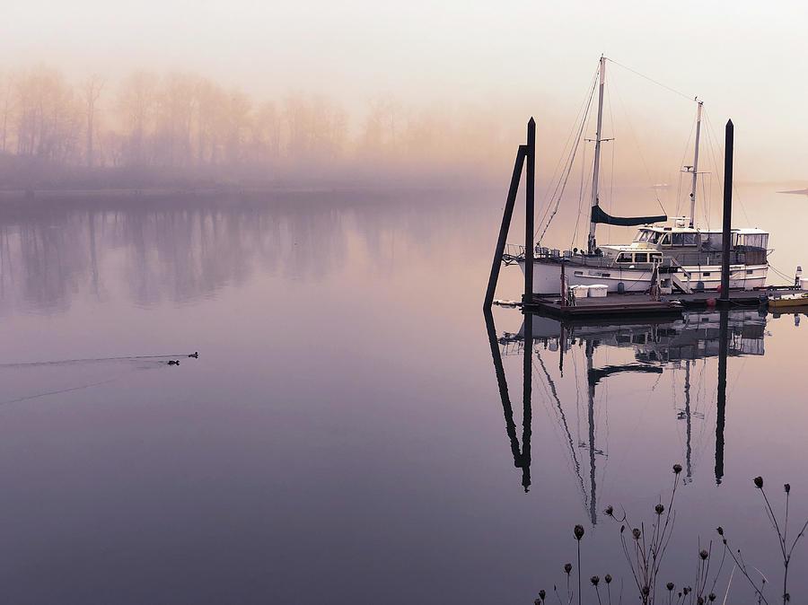 Sunrise on the Willamette by Mark David Gerson