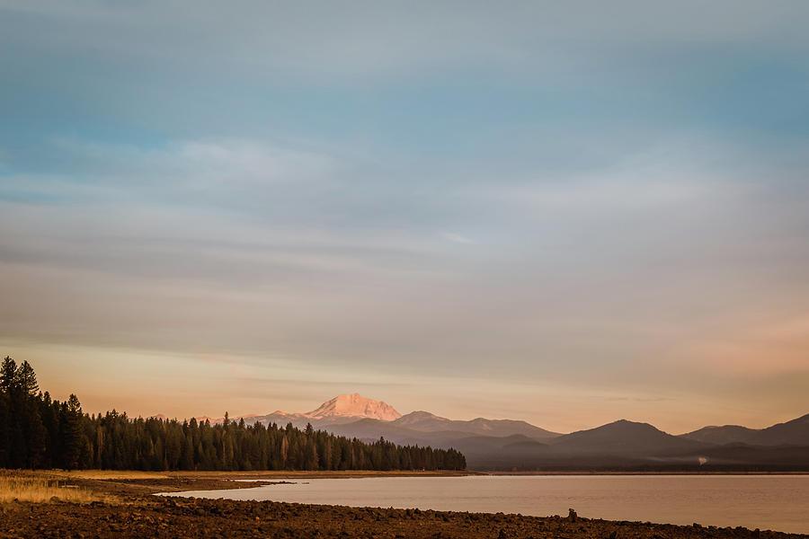 Sunrise on Westshore Lassen Peak by Jan Davies
