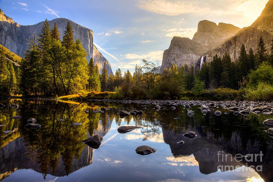 Capitan Photograph - Sunrise On Yosemite Valley Yosemite by Stephen Moehle