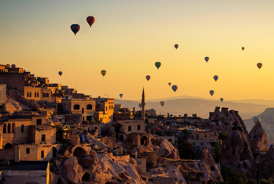 Sunrise Photograph - Sunrise Over Cappadocia by Yavuz Pancareken