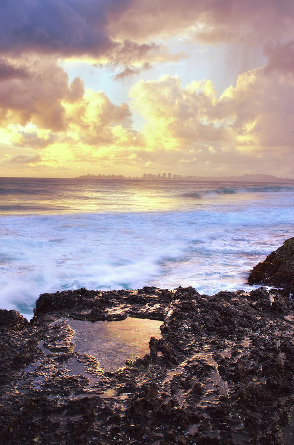 Sunrise Over Coolangatta Photograph by Nancy Branston
