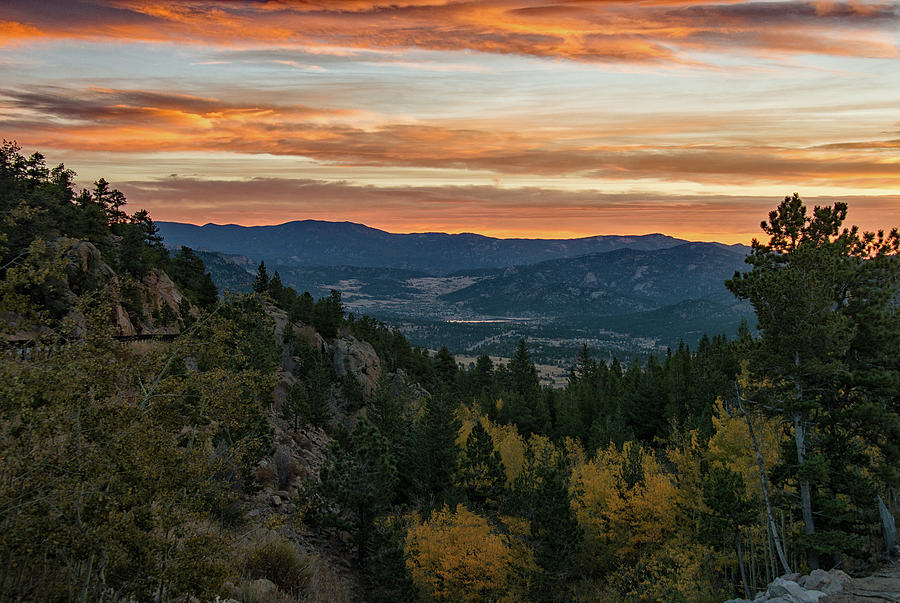 Sunrise Over Estes Valley by Darlene Bushue