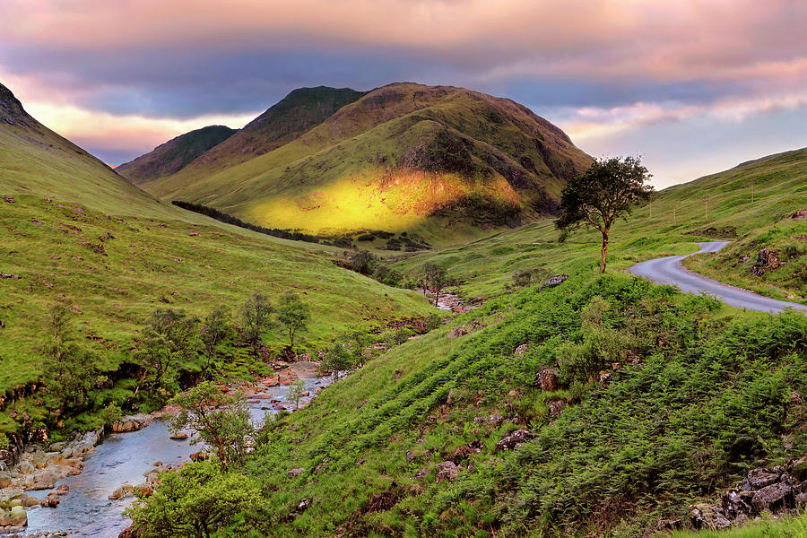 Sunrise over Glen Etive - Scotland - Scottish Highlands by Jason Politte