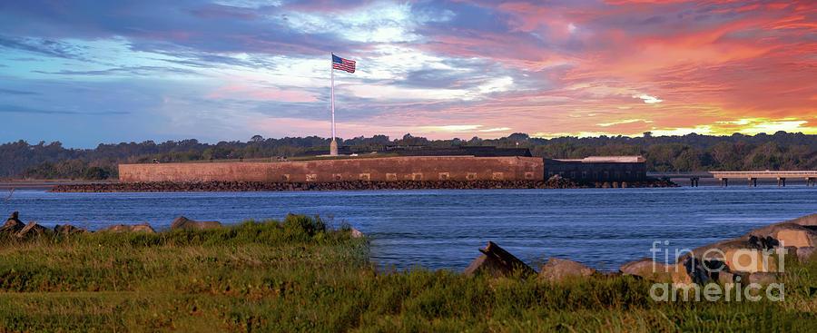 Sunrise Over Historic Fort Sumter - Charleston South Carolina Photograph