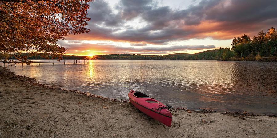 Sunrise Over Keoka Lake Fall by Darylann Leonard Photography