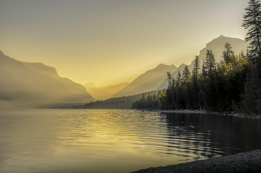 Sunrise over Lake McDonald, Glacier National Park by Roderick Bley