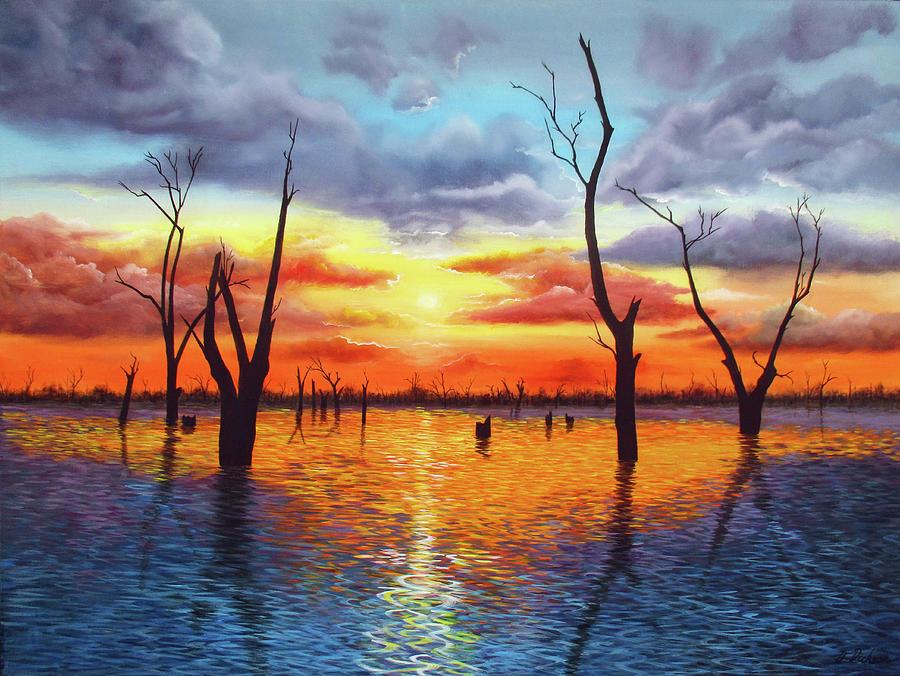 Sunrise over Lake Mulwala by Debra Dickson