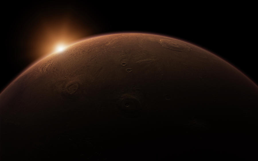 Sunrise Over Mars Digital Art by Bjorn Holland