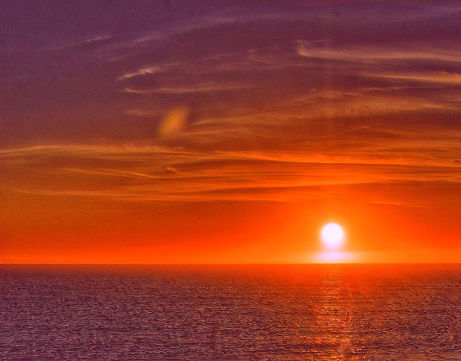 Sunrise Over The Indian Ocean Off The South African Coast Digital Art By Darren Towers